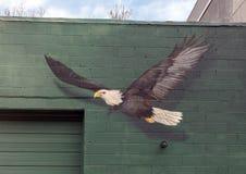 Vogel-Zufuhrwandgemälde 2018 durch Meg Saligman Studio, Philadelphia Stockfoto