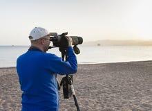 Vogelaar, Birdwatcher стоковые изображения rf