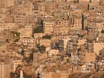 Vogelansicht über arabische Stadt. Mittlerer Osten Stockfotografie