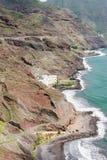 Vogelansicht über Küstenhotel Las Gaviotas Lizenzfreies Stockbild