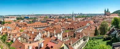 Vogelansicht der alten Stadt in Prag, Tschechische Republik, Sommer lizenzfreie stockbilder