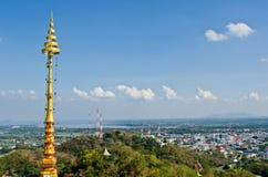 Vogelansicht der Nakhonsawan Stadt Lizenzfreies Stockfoto