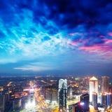 Vogelansicht in Nanchang China. stockbilder