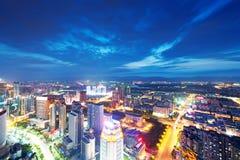 Vogelansicht in Nanchang China. Stockbild