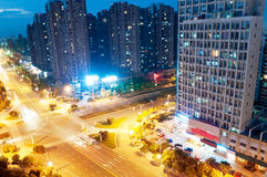 Vogelansicht in Wuhan China stockbilder