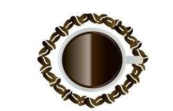 Vogelauge mit Kaffee Lizenzfreies Stockfoto