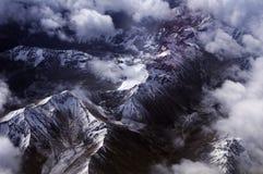 Vogelaugenansicht des Himalajas Stockfotos