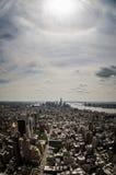 Vogelaugenansicht von Manhattan Stockbilder