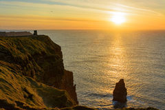 Vogelaugenansichten von den Klippen von moher in der Grafschaft Clare Irland Lizenzfreies Stockbild