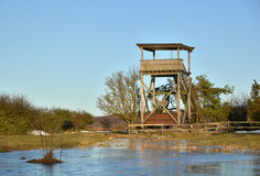 Vogelbeobachtungkontrollturm stockfoto