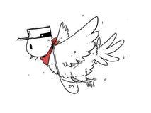 Vogelbriefträger lizenzfreie stockfotos