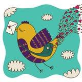 Vogelbrievenbesteller Royalty-vrije Illustratie