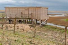Vogelfell, hölzerne Struktur, Rye-Hafen Lizenzfreies Stockfoto