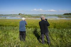 Vogelfotografen, φωτογράφοι πουλιών στοκ εικόνα με δικαίωμα ελεύθερης χρήσης