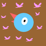 Vogelgesicht lizenzfreie abbildung