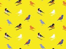 Vogelgrosbeak Behang stock illustratie