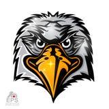 Vogelhauptlogo für irgendwelche Sportteamadler lokalisiert stock abbildung