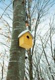 Vogelhaus auf dem Baum Stockbild