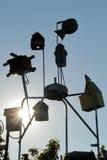 Vogelhaus-Skulptur Stockfotos