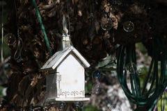 Vogelhaus und -Seifenblasen Lizenzfreie Stockfotos