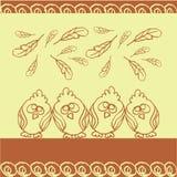 Vogelhintergrund mit Federn Stockbild