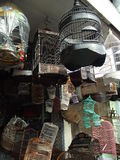 Vogelkäfige in Bali-Hochländern Lizenzfreie Stockfotos