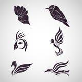 Vogellogo-Ikonenvektor Lizenzfreies Stockfoto