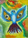Vogelmalerei Stockfotografie
