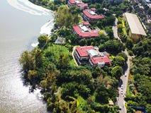 Vogelmening van Qionghai-Meer in Xichangï ¼ ŒChina Royalty-vrije Stock Fotografie