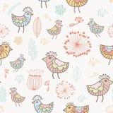 Vogelmuster Lizenzfreies Stockfoto