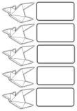 Vogelorigami und -text Lizenzfreie Stockbilder