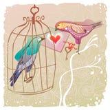 Vogelpaar het ontsnappen Royalty-vrije Stock Fotografie