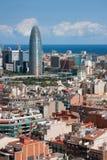 Mening van Barcelona Stock Foto's