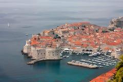 Vogelperspectief van Dubrovnik Stock Foto's
