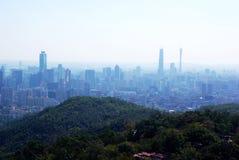 Vogelperspectief van Guangzhou stock afbeelding