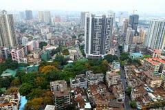 Vogelperspectief van Guangzhou, China stock afbeeldingen