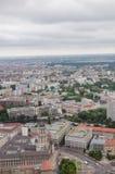 Vogelperspektive über Berlin von Fernsehturm Stockbild