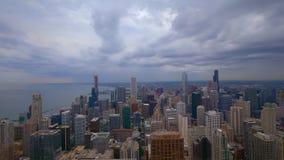 Vogelperspektive über Chicago - überraschender Zeitspanneschuß stock video