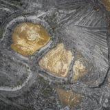 Vogelperspektive über der Baumaterial-Verarbeitungsfabrik Sand Stockfotos