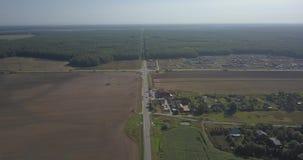 Vogelperspektive über Gemeinde 4K Pixel 4k 4096 x 2160 stock video footage