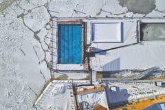 Vogelperspektive, Allas-Seepool stockbilder