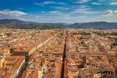 Vogelperspektive auf altem historischem Teil von Florenz, Italien Stockbilder