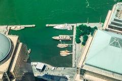Vogelperspektive auf Brookfield-Platz, USA Lizenzfreies Stockfoto