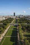 Vogelperspektive auf Champ de Mars Lizenzfreie Stockfotos