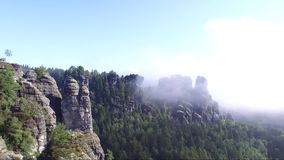 Vogelperspektive auf dem Bastei stock video footage