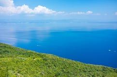 Vogelperspektive auf der Bucht Italien Lizenzfreies Stockfoto