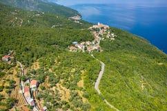 Vogelperspektive auf der Bucht Italien Lizenzfreie Stockfotografie