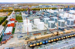 Vogelperspektive auf Erdölraffinerieanlage Tyumen Russland Stockfoto