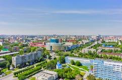 Vogelperspektive auf Krankenhaus und Universität Tyumen Stockfotografie