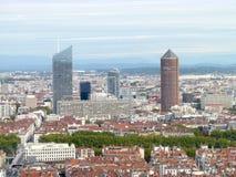 Vogelperspektive auf La teil--Dieu Lyon Frankreich Lizenzfreies Stockfoto